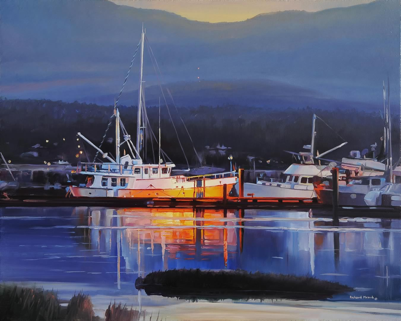 "Harbour Lights 20"" x 16"""