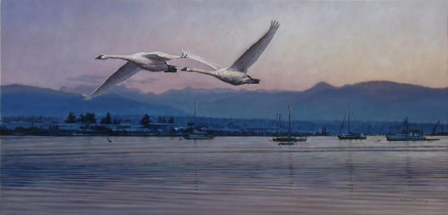 "Over The Harbour 33"" x 16"""
