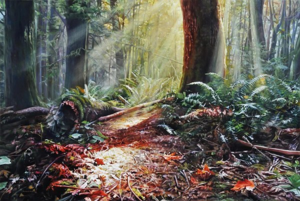 "Enchanted Forest 48"" x 32"""