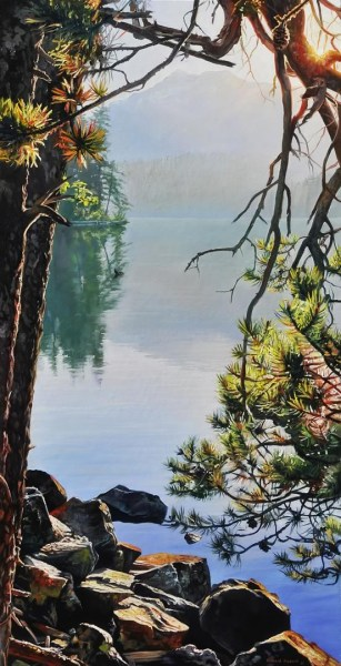 "Morning View 20"" x 40"""