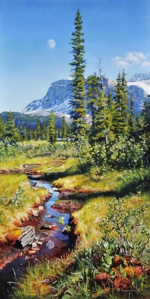 "QUIET CREEK 20"" x 40"""