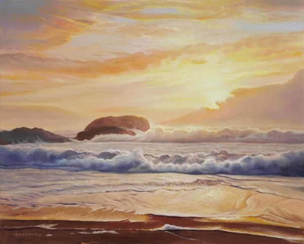 "Sunset Surf 20"" x 16"""