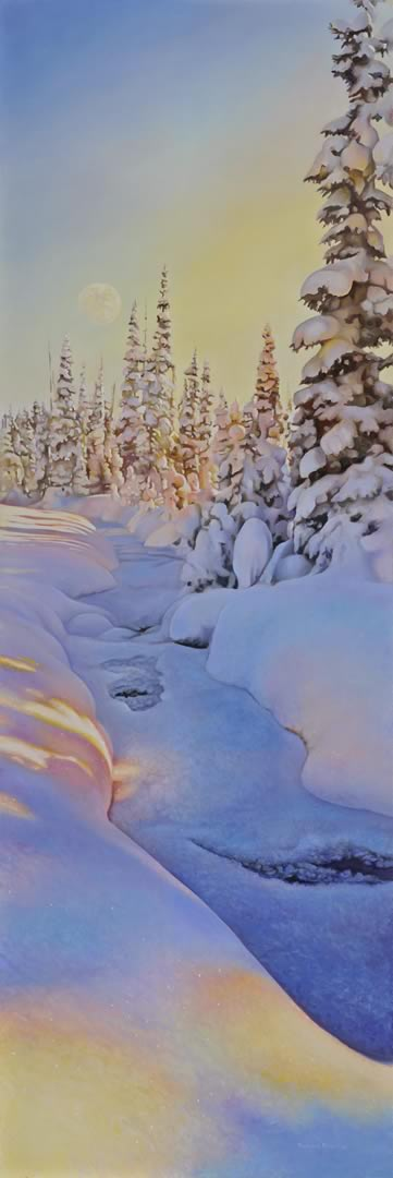 "Winter Solitude 12"" x 36"""