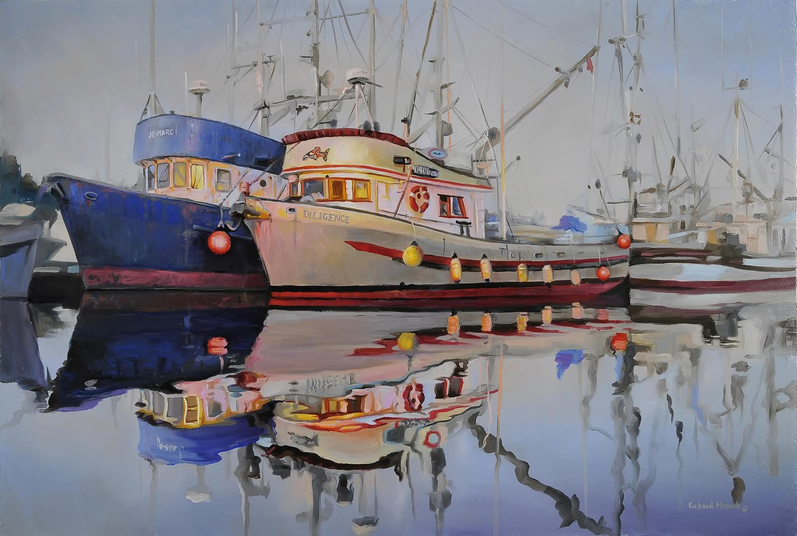 "At The Harbour 24"" x 16"""