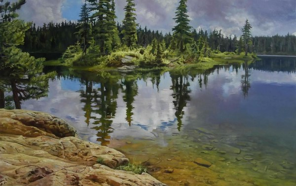 "Alpine Lake 48"" x 30"""