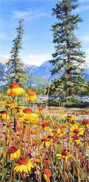"Field Of Sunshine 20"" x 40"""
