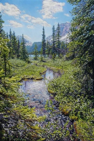 "FLOWING TRAIL 24"" x 36"""