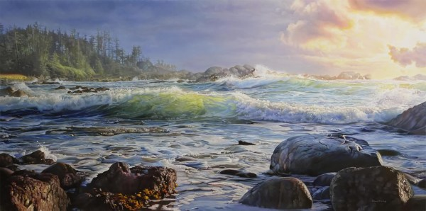 "Sunset Surf 48"" x 24"""