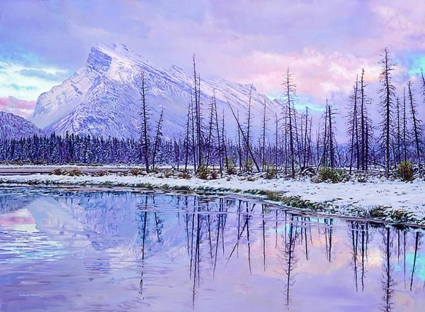 "Winter Reflections 30"" x 21"""
